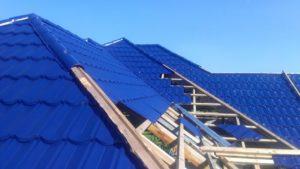 پرچین ، پرچین سقف ، سقف اجرا شده با ورق پرچین