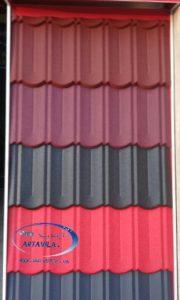 بام تایل - پوشش سقف بام تایل - طرح چروک بام تایل ، طرح سنگ ریزه ای بام تایل