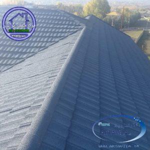اجرای سقف طرح سنگ ریزه ای با تایل تیلکور نیوزیلندی